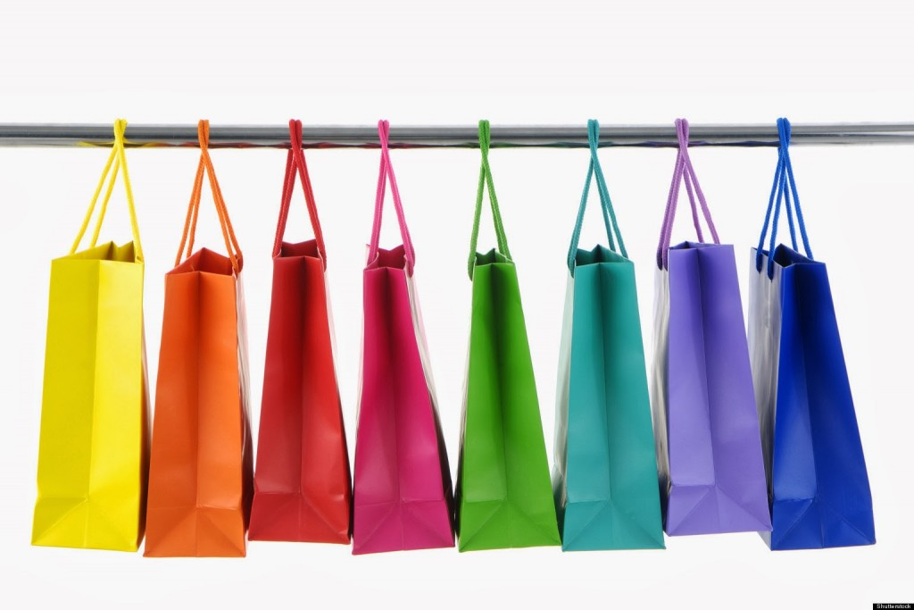 Colorful Shopping Bags on white background; Shutterstock ID 12315409; PO: aol; Job: production; Client: drone