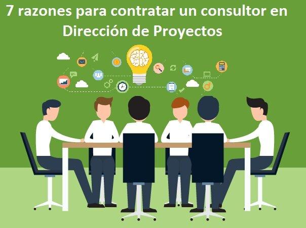 razones contratar consultor direccion proyectos